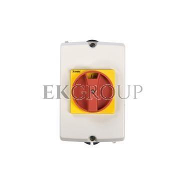 Obudowa do rozłącznika GA016A-GA040A pokrętło czerwono-żółte IP65 GAZ1-86204