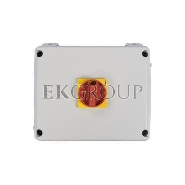 Obudowa do rozłącznika GA063A-GA125A pokrętło czerwono-żółte IP65 GAZ3-86207