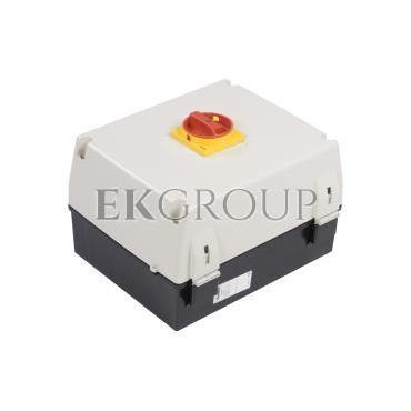 Obudowa do rozłącznika GA063A-GA125A pokrętło czerwono-żółte IP65 GAZ3-86208