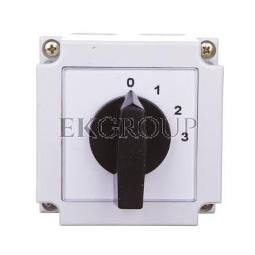Łącznik krzywkowy 0-1-2-3 1P 10A w obudowie 4G10-108-PK-87782