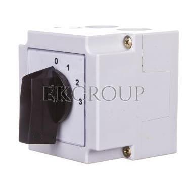 Łącznik krzywkowy 0-1-2-3 1P 10A w obudowie 4G10-108-PK-87783