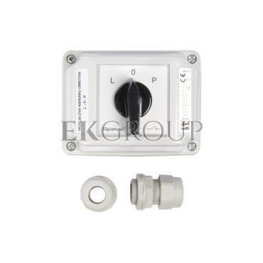 Łącznik krzywkowy L-0-P 3P 40A w obudowie ŁK40-3.8368\OB3-86963