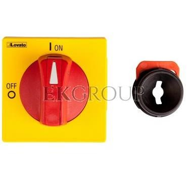 Napęd drzwiowy czerwono-żółty z blokadą GAX63-85761