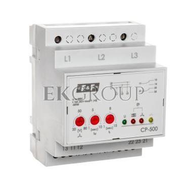 Przekaźnik kontroli napięcia 3-fazowy 2P 2x8A 3x500V 150-210V AC (bez N) CP-500-101873