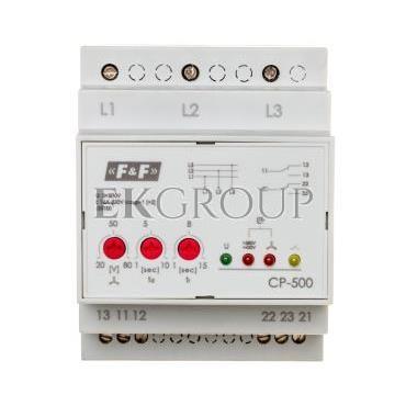 Przekaźnik kontroli napięcia 3-fazowy 2P 2x8A 3x500V 150-210V AC (bez N) CP-500-101874