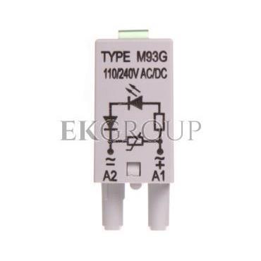Moduł sygnalizacyjny LV (dioda LED zielony   warystor V) 110-230V AC/DC M93G szary 854860-99000