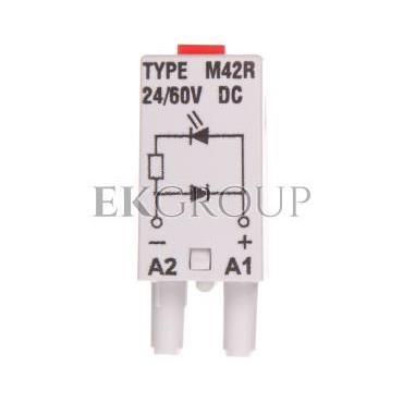 Moduł sygnalizacyjny LD (diody: LED czerwony   D) 24-60V DC M42R szary 854844-90927