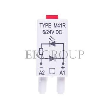 Moduł sygnalizacyjny LD (diody: LED czerwony   D) 6-24V DC M41R szary 854842-90886