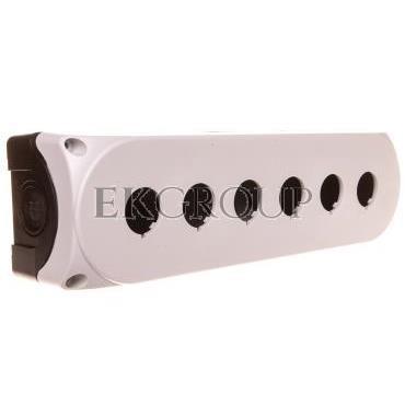 Obudowa kasety 6-otworowa 22mm biała IP67 LPZP6A8-101310