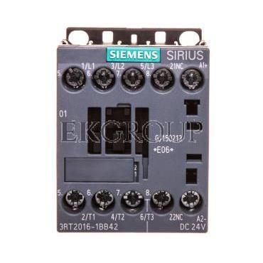 Stycznik mocy 9A 3P 24V DC 0Z 1R S00 3RT2016-1BB42-93452