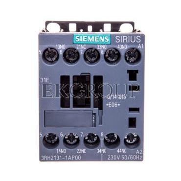 Stycznik pomocniczy 3A 3Z 1R 230V AC S00 3RH2131-1AP00-94553