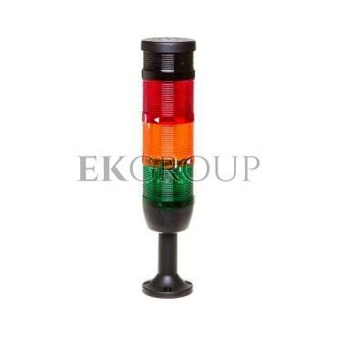 Kolumna sygnalizacyjna kompletna 70mm, 3 człony 24V DC błysk-żółty-zielony buzzer TK-IK73F024ZM01-98526