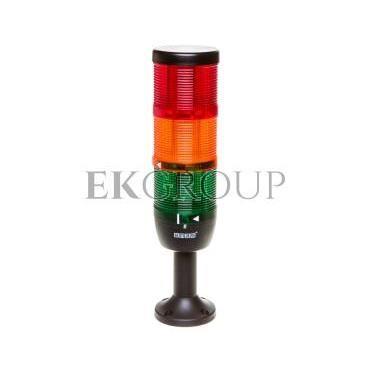 Kolumna sygnalizacyjna kompletna 70mm, 3 człony 24V DC czerwony-żółty-zielony TK-IK73L024XM01-98527