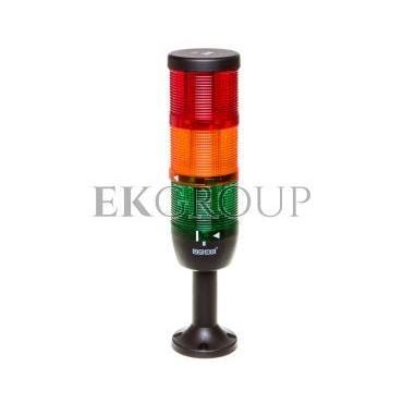 Kolumna sygnalizacyjna kompletna 70mm, 3 człony 230V AC czerwony-żółty-zielony TK-IK73L220XM01-98528