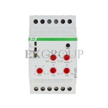 Przekaźnik kontroli prądu 4-funkcyjny 0,02-1/0,5-5A 2P 0-20sek (praca z przekładnikiem 5A) EPP-620-101962
