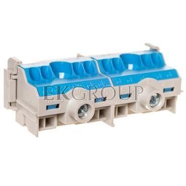 Listwa zaciskowa N na szynę 80A 2x25mm2   8x4 mm2 Cu niebiesko-szara FC N 10 26001204-91075