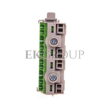 Listwa zaciskowa PE na szynę 80 A 2x25mm2   8x4mm2 Cu zielono-szara FC PE 10 26001205-91076