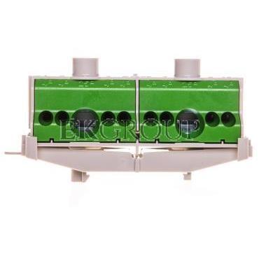 Listwa zaciskowa PE na szynę 80 A 2x25mm2   8x4mm2 Cu zielono-szara FC PE 10 26001205-91077