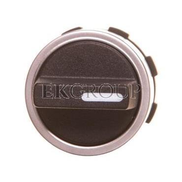 Pokrętło obrotowe czarne Typ 12, 22mm IP65 z krótkim uchwytem pierścień czołowy aluminium BE-B3KN2-00000000-99658