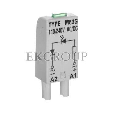 Moduł sygnalizacyjny L (dioda: LED zielony) 110-230 V AC/DC M63G szary 854854-99002