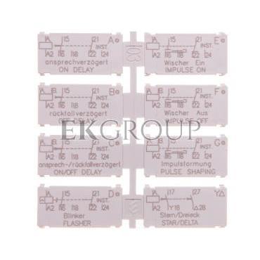 Tabliczka opisowa dla przekaźnika 2P 3RP1901-0B-101457