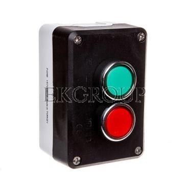 Kaseta sterownicza 2-otworowa zielony/czerwony 1Z 1R szara IP65 T0-P2AB-98398