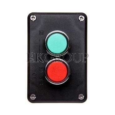 Kaseta sterownicza 2-otworowa zielony/czerwony 1Z 1R szara IP65 T0-P2AB-98399