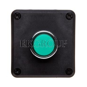 Kaseta sterownicza 1-otworowa zielony 1Z szara IP65 T0-P1C300DY-98401
