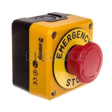 Kaseta z przyciskiem bezpieczeństwa przez obrót 1R czarno-żółta Emergency Sop IP65 T0-P1EC400E40-K-98402