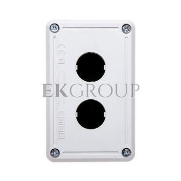 Kaseta sterownicza 2-otworowa fi22 pusta czarno-szara IP65 T0-PY2BOS-101333