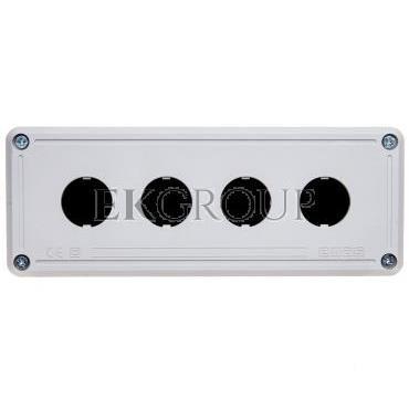 Kaseta sterownicza 4-otworowa fi22 pusta czarno-szara IP65 T0-PY4BOS-101336