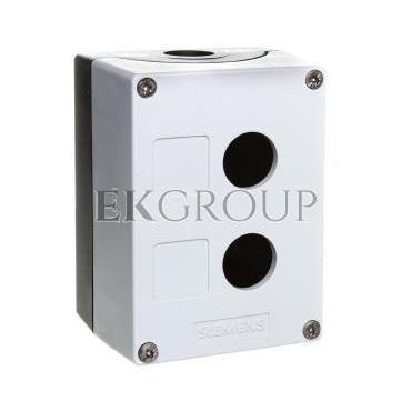 Obudowa kasety 2-otworowa 22mm czarno-szara M20 IP69k Sirius ACT 3SU1802-0AA00-0AB1-101339
