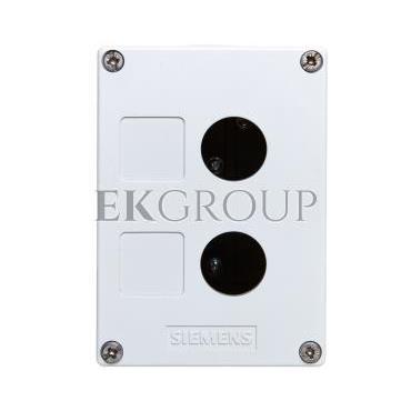 Obudowa kasety 2-otworowa 22mm czarno-szara M20 IP69k Sirius ACT 3SU1802-0AA00-0AB1-101340