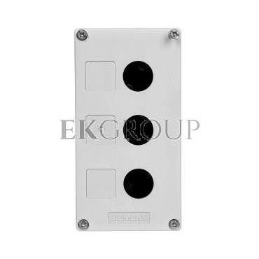 Obudowa kasety 3-otworowa 22mm czarno-szara M20 IP69k Sirius ACT 3SU1803-0AA00-0AB1-101342