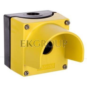 Obudowa kasety 1-otworowa 22mm czarno-żółta z kołnierzem M20 IP69k Sirius ACT 3SU1801-0AA00-0AC2-101349