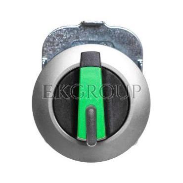 Napęd przełącznika 2 położeniowy O-I 30mm zielony z podświetleniem z samopowrotem metal mat IP69k Sirius ACT 3SU1062-2DC40-0AA0-