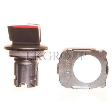 Napęd przełącznika 3 położeniowy I-O-II 30mm czerwony podświetlany z samopowrotu metal mat IP69k Sirius ACT 3SU1062-2DM20-0AA0-9