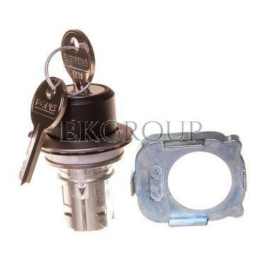 Napęd przełącznika 2 położeniowy O-I 30mm 2x klucz RONIS SB30 z samopowrotem metal mat IP69k Sirius ACT 3SU1060-4LC01-0AA0-99474
