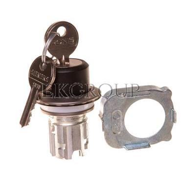 Napęd przełącznika 3 położeniowy I-O-II 30mm 2x klucz RONIS SB30 bez samopowrotu metal mat IP69k Sirius ACT 3SU1060-4LL11-0AA0-9