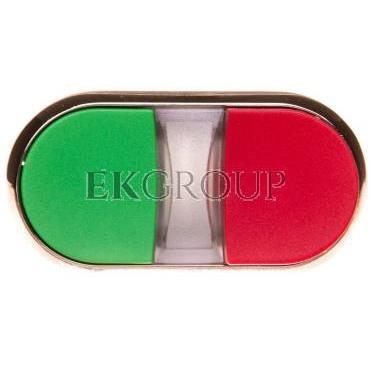 Napęd przycisku podwójnego 22mm zielony i czerwony wystający z podświetleniem metalowy IP69k Sirius ACT 3SU1051-3BB42-0AA0-10095