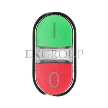 Napęd przycisku podwójnego 22mm zielony /I/ i czerwony wystający /O/ z podświetleniem metal IP69k Sirius ACT 3SU1051-3BB42-0AK0-