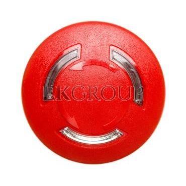 Napęd przycisku grzybkowego czerwony odbl. przez obrót z podświetleniem metalowy IP69k Sirius ACT 3SU1051-1HB20-0AA0-99960
