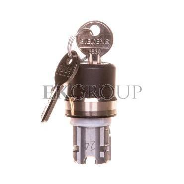 Napęd przełącznika 3 położeniowy I>O-II 22mm 2x klucz RONIS SB30 stabilny/niestabilny metal IP69k Sirius ACT 3SU1050-4BP61-0AA0-