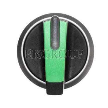 Napęd przełącznika 3 położeniowy I-O-II 22mm zielony podświetlany bez samopowrotu plastik IP69k Sirius ACT 3SU1032-2BL40-0AA0-99