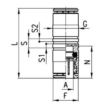 Złącze wtykowe obustronne 6580 Camozzi