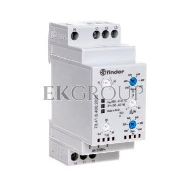 Przekaźnik kontroli napięcia 3-fazowy kontrola N, zaniku faz, rotacji, asymetria 1P 6A 380-415V 70.41.8.400.2030-101879