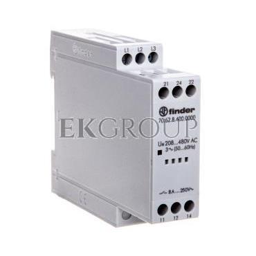 Przekaźnik kontroli napięcia 3-fazowy kontrola zaniku, rotacji i niskiej wart. nap. na fazę 208-480V AC 70.62.8.400.0000-101881