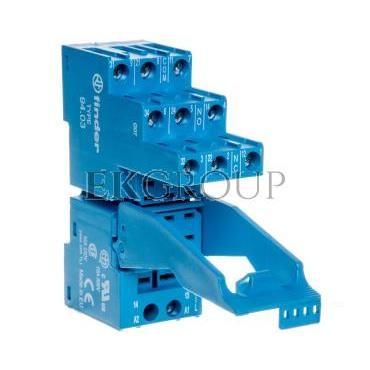 Gniazdo do serii 55.33/85.03 modułów 86.30, modułów 99.02, zaciski śrubowe, montaż na szynę DIN 35mm 94.03SPA-97964