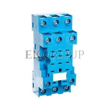 Gniazdo do serii 55.33/85.03 modułów 99.01, zaciski śrubowe, montaż na szynę DIN 35mm (klip metalowy) 94.73SMA-97968
