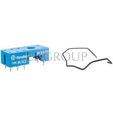 Gniazdo do przekaźników serii 40.51/40.52/40.61/44.52/44.62 montaż do płytki drukowanej (klip metalowy) 95.15.2SMA-98016